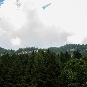 vista montagna con cielo